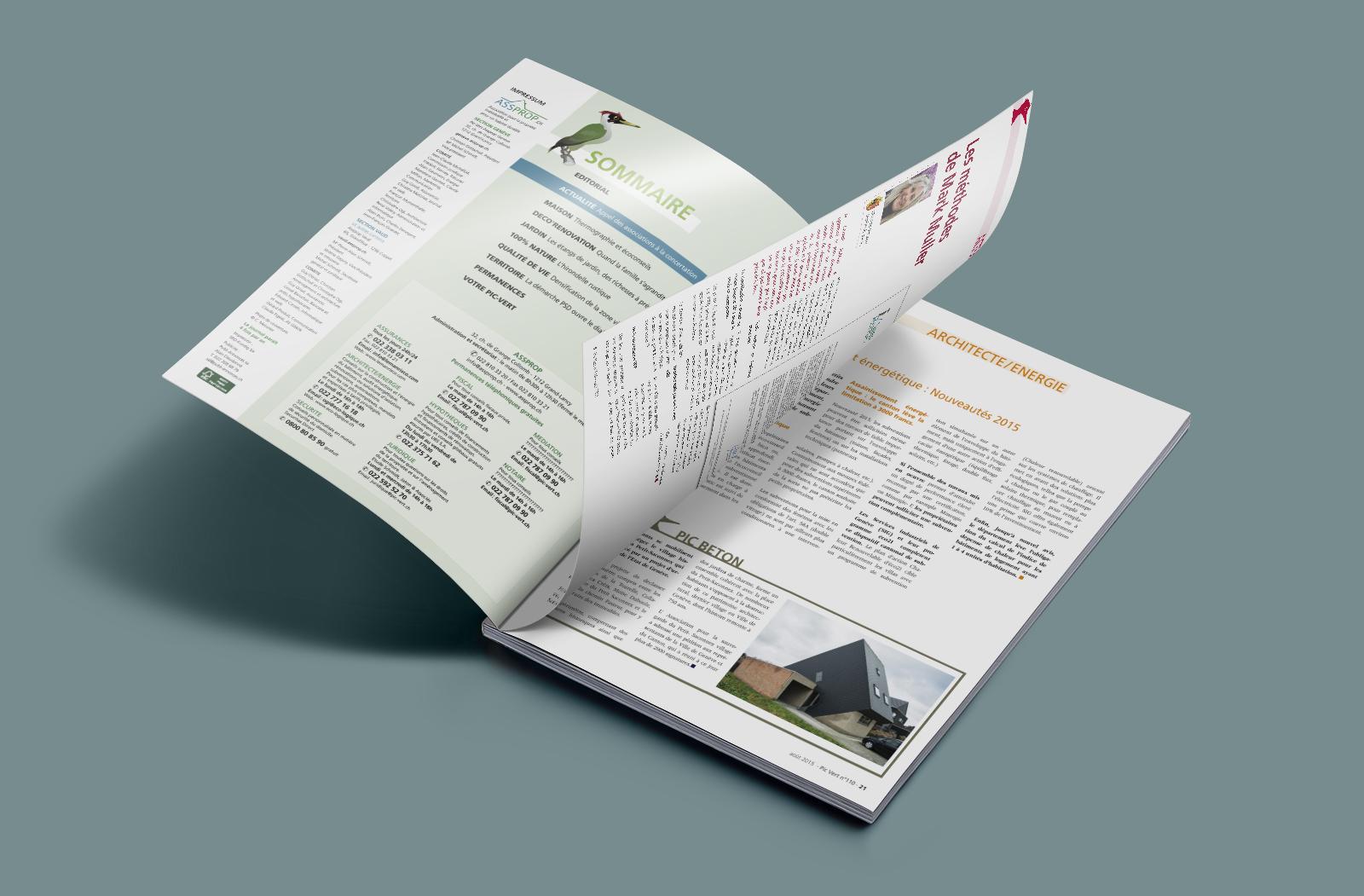 Pages intérieures du magazine Le Pic-Vert