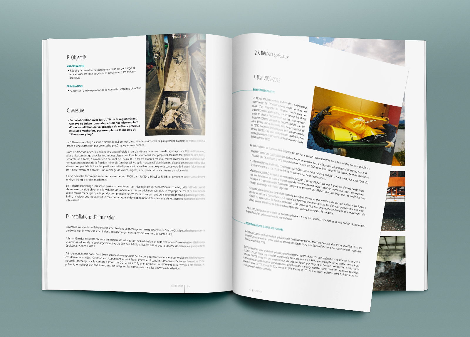 Pages intérieures du Plan de gestion des déchets 2015