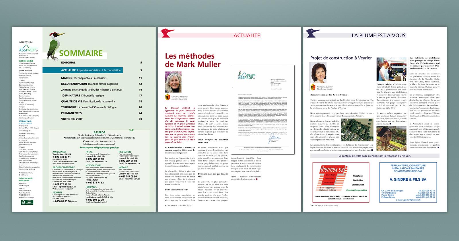 Pages intérieures sommaire et rubriques