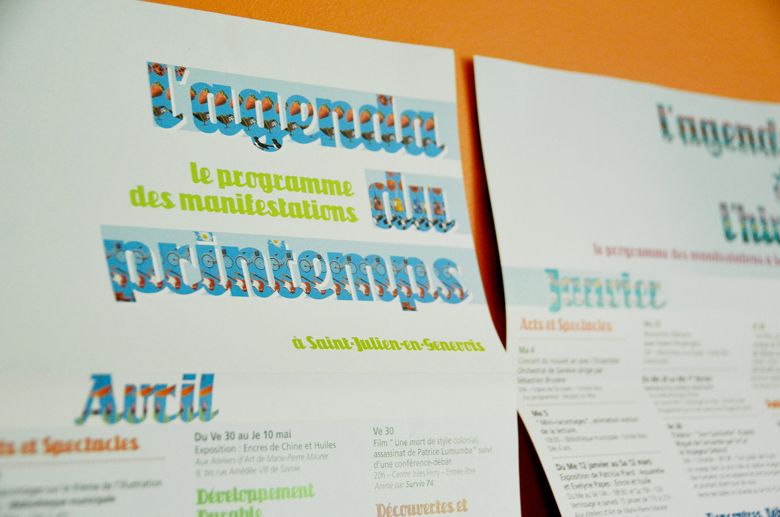 Vue du programme du printemps de la mairie de St-Julien-en-Genevois