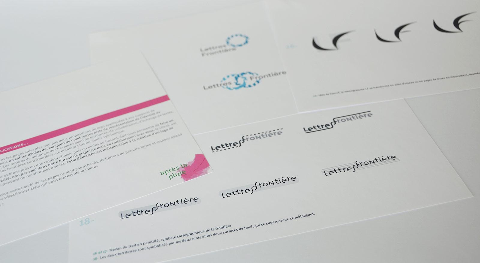 Créaion du logo de Lettres frontière