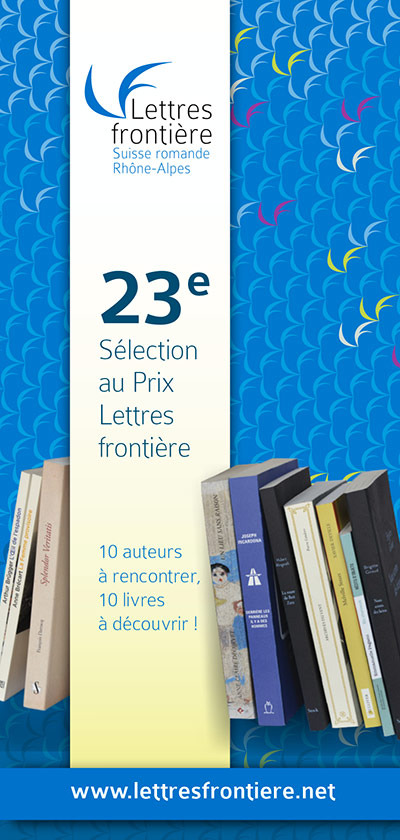 Première de couverture du livret présentant la 23e Sélection au Prix Lettres frontière