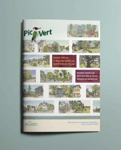 Première de couverture du numéro spécial du journal Pic-Vert sur les ballades dans les quartiers de villas