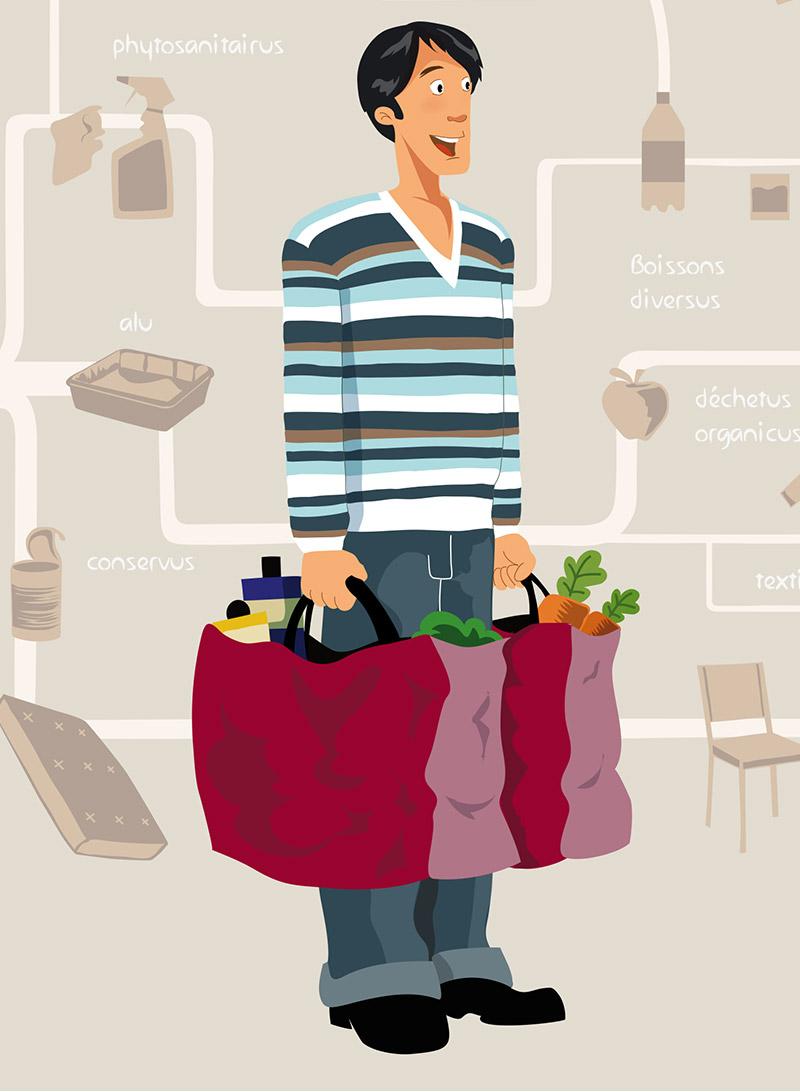visuel du Guide des déchets ménagers en couleur