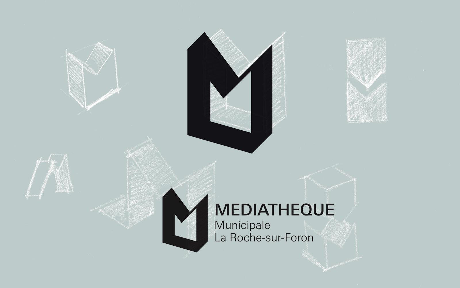 Logo de la Médiathèque de La-Roche-sur-Foron