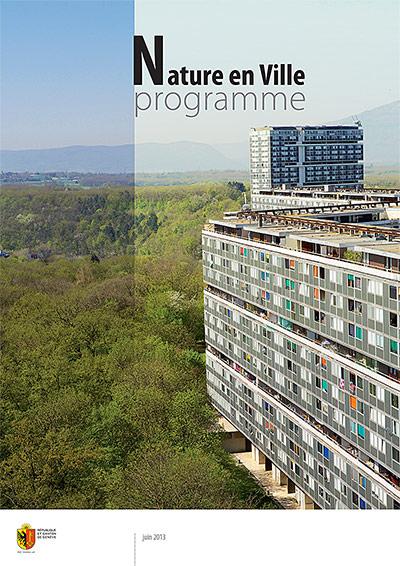 Première de couverture du Programme Nature en ville pour le Canton de Genève