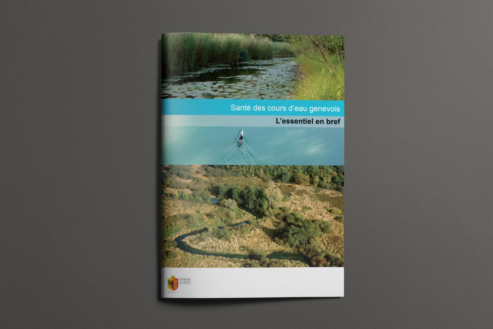 1e de couverture brochure Santé des cours d'eau Genevois - L'essentiel en bref