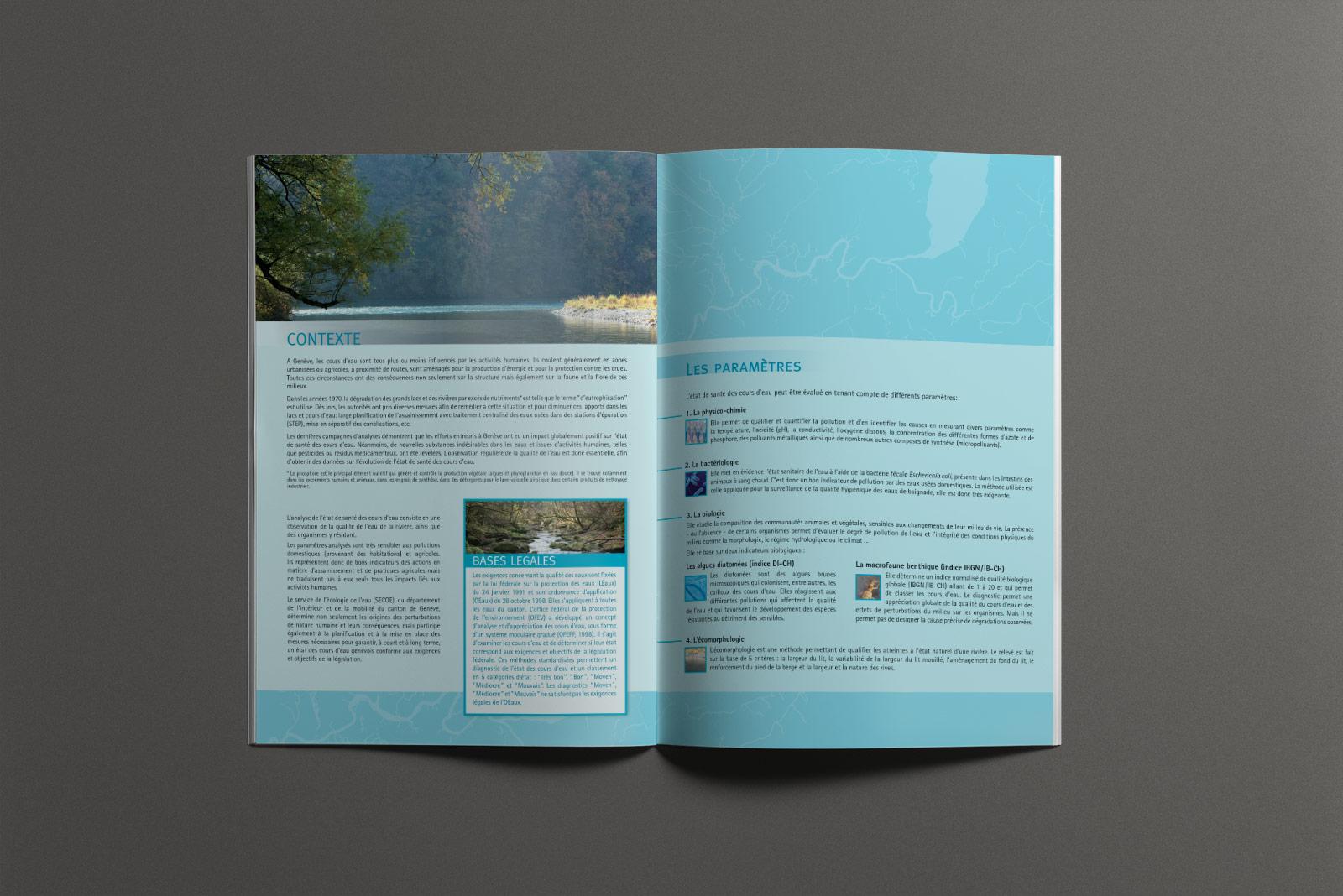 Pages intérieures brochure Santé des cours d'eau Genevois - L'essentiel en bref