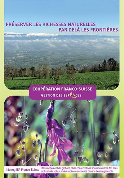 Couverture de la brochure Coopération franco-suisse, Préserver les richesses naturelles